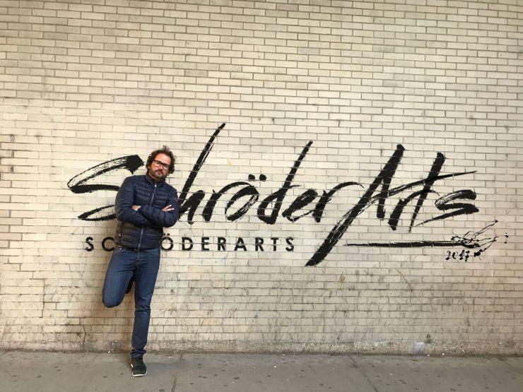 Zeigt den Maler Pete Schröder - Street Art in San Francisco 2017
